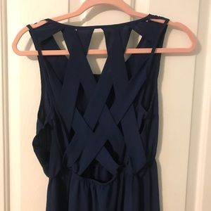 Loila Criss Criss Navy Maxi Dress Large